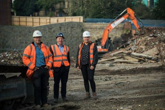 Demolition at Church Wharf